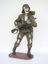 Skeleton Soldier Statue