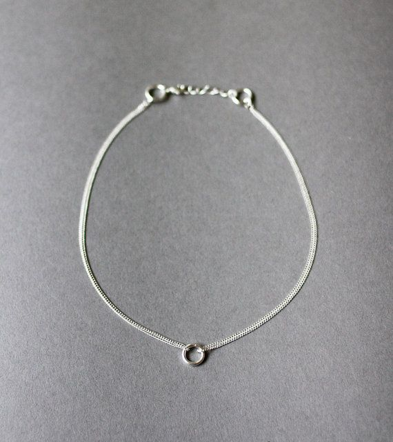 silver circles necklace by amerrymishap on Etsy