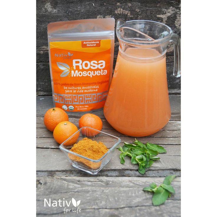 Haz un jugo natural de naranja y agrégale Rosa Mosqueta! Mucha vitamina C para enfrentar este invierno  #invierno #winter #vitaminac #naranja #jugo #rosamosqueta #nativforlife #antioxidante #frutas #superfrutas