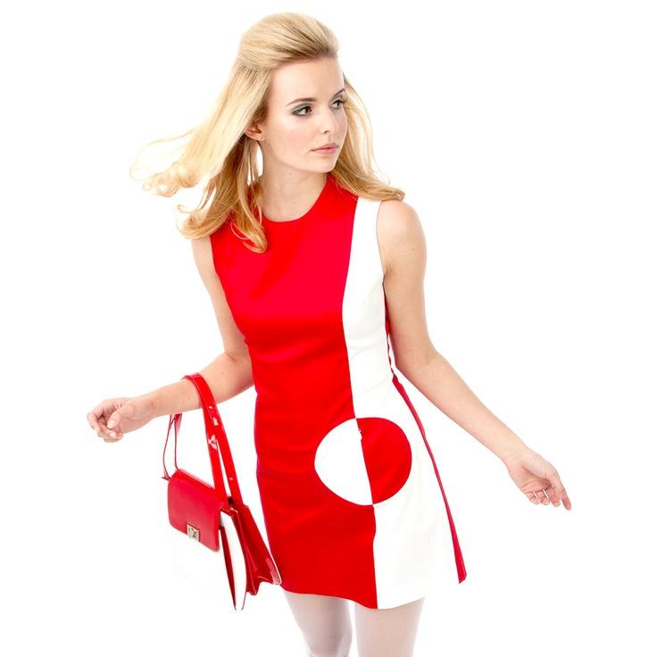 Mod Dress Red White