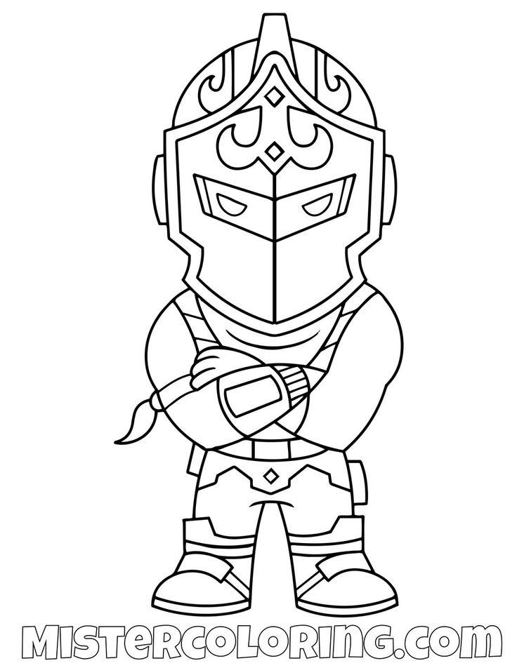 Black Print Drawing Fortnite Knight