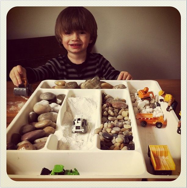 "Use Drawer Organisers for Construction Sensory Play - image from Today's Parent Magazine ("",)"