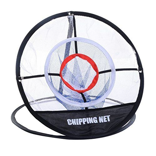 "WElinks Portable 20"" Golf Pitching Practice Net,Collapsible Golf Chipping Net,Training Hitting Aid Indoor Outdoor Bag, Pefect for Golf Training"
