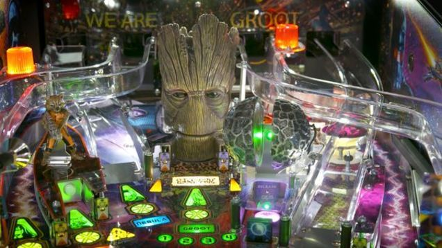 Groot is getting his own pinball machine. Chicago-based Stern Pinball has introduced a new line of Guardians Of The Galaxy machines sure to be traveling warp speed into every barcade and nerdy basement near you.