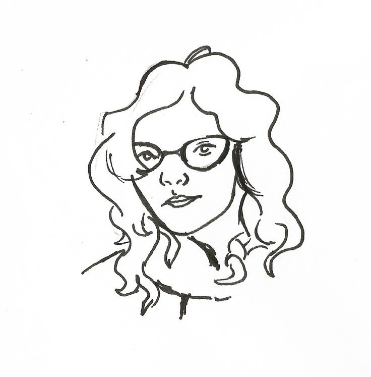 A doodle I did of myself for DAMSEL, my university's best/only women's magazine! I actually did them of all the contributors, which you can see if you pick up a copy of the magazine!