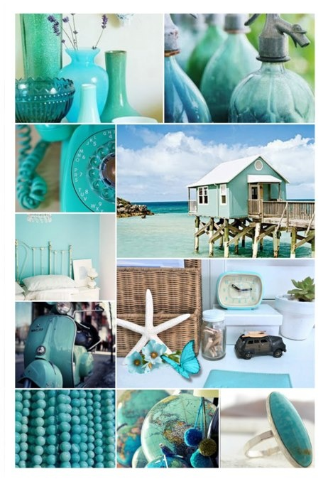 Turquoise. Everything in this pic is perfection.
