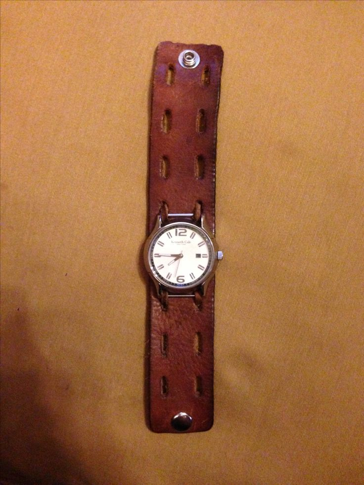 Diy repurposed leather belt into rugged watch band this Repurposed leather belts