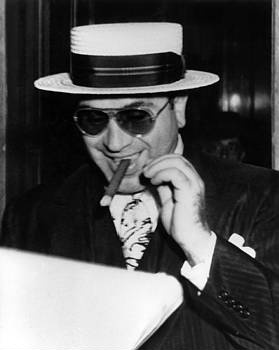 """Al Capone.  Chicago's """"Public Enemy Number One"""" opened some of the first soup kitchens in Chicago after the Great Depression."""
