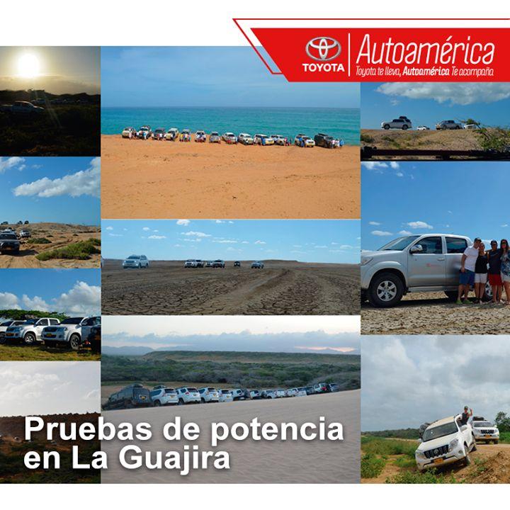 A principio del año #Autoamérica puso a prueba la potencia de los vehículos #Toyota en la geografía de La Guajira. ¿Te gustaría hacer parte de nuestras experiencias 4x4? Sé un #Toyotero, inscríbete en nuestras expediciones y al club 4x4 https://goo.gl/LtWv2C