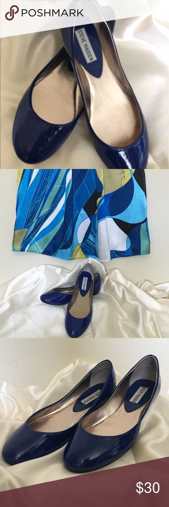 Size 7 Royal Blue Steve Madden Ballet Shoes Worn only once, these shoes are cute, comfortable and are available just in time for this season's blue trends. Steve Madden Shoes Flats & Loafers