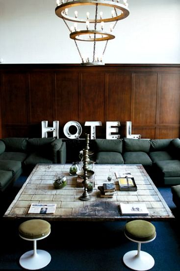 "The Ace Hotel in Portland, Oregon - the hipster hotel parodied on ""Portlandia"" (although they called it ""Duece"")"