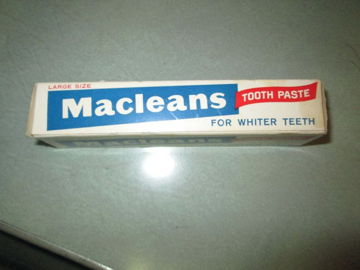 Vintage Dental Macleans Tooth Paste in Original Packaging Large Size for whiter teeth Brylcreem ad on flap taste the difference retro kitsch by kookykitsch on Etsy