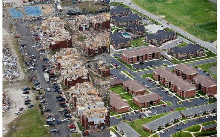 Ef5 Tornado Damage Before And After Joplin was hit ...