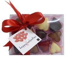 Valentine Chocolade Harten Mix - mix massieve harten - 180g