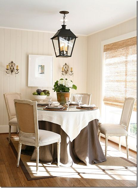 Small Dining Room With Nicely Scaled Lantern