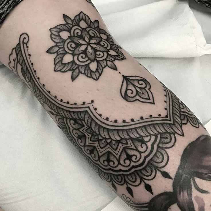 Tattoo done by: Jack Peppiette #mandala #mandalas #mandalatattoo