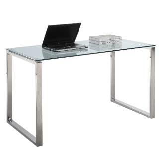 $347  Check out the Chintaly Imports 6931-DSK-LRG Large Computer Desk Table in Clear Glass priced at $295.24 at Homeclick.com.