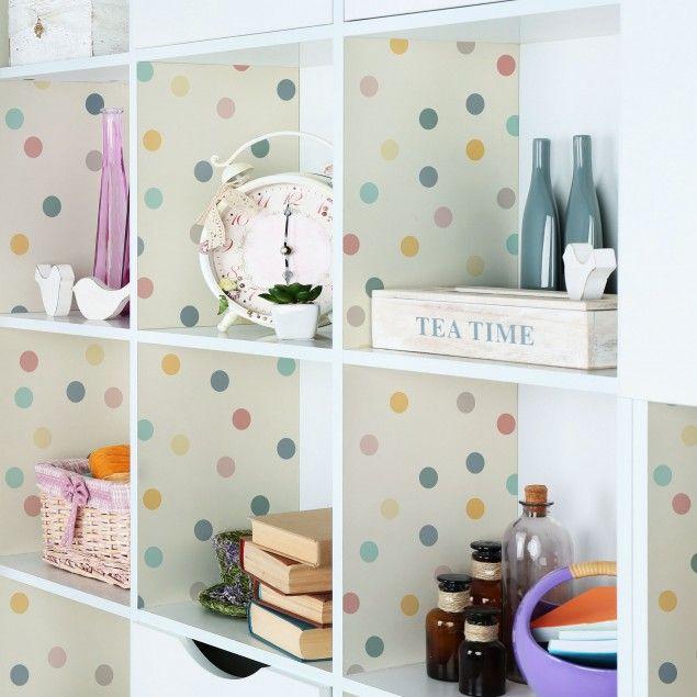 Mobelfolie Konfetti Punkte Muster Folie Fur Mobel Selbstklebend Folie Fur Mobel Dekor Und Ikea Mobel