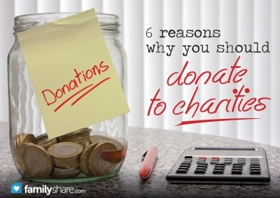 FamilyShare.com l Why you should donate to #charity - I only agree with 5 of these - I do not believe in receiving tax deductions for donations