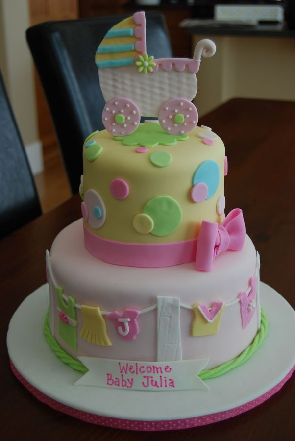 Cake Decorating Baby Carriage : 1000+ ideas about Girl Shower Cake on Pinterest Baby ...