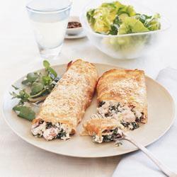 Crêpes au jambon et aux épinards @ http://qc.allrecipes.ca