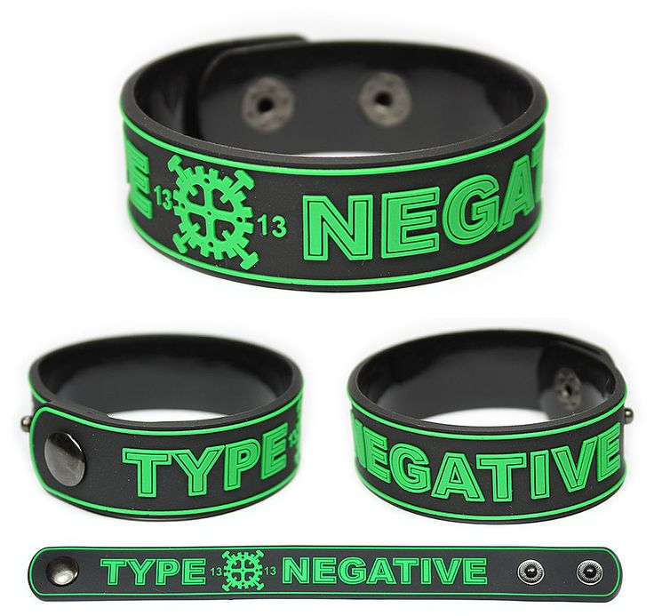 TYPE O NEGATIVE Rubber Bracelet Wristband Peter Steele | Entertainment Memorabilia, Music Memorabilia, Rock & Pop | eBay!