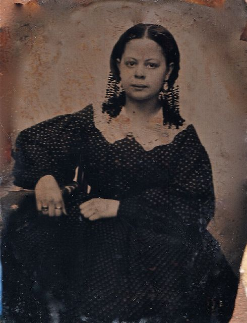 "1/9th Plate Ambrotype of Creole Beauty ""Jois"", New Orleans, Circa 1855 by lisby1, via Flickr"