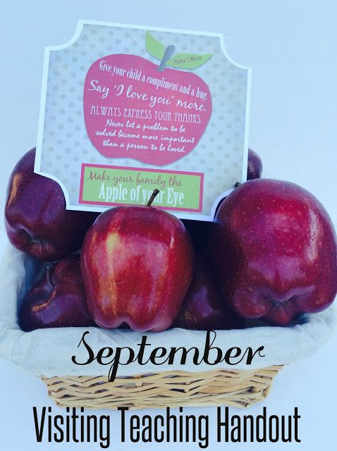 Marci Coombs: September Visiting Teaching Handout with FREE printable tags.