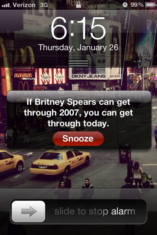 hysterical. and so true.: Remember This, Alarm Clocks, Mornings Motivation, Quote, Wake Up, So True, So Funny, True Stories, Britney Spears