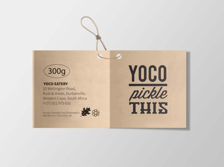Tag design for Yoco Eatery by Pink Pigeon Graphic Design © www.pinkpigeon.co.za