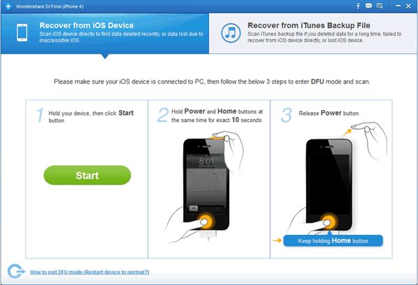 How to Recover Deleted Photos from iPhone 5/4/4s/3GS?