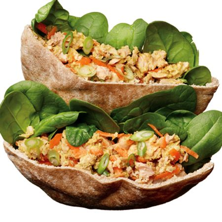 Salmon Salad Pita: This meal will keep you fueled, happy, and healthy!