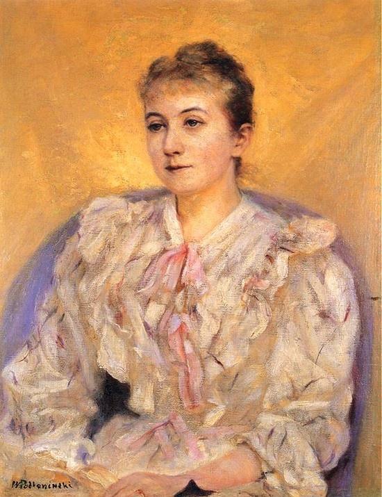 Portrait of a Woman, by Władysław Podkowiński (Polish, 1866-1895)