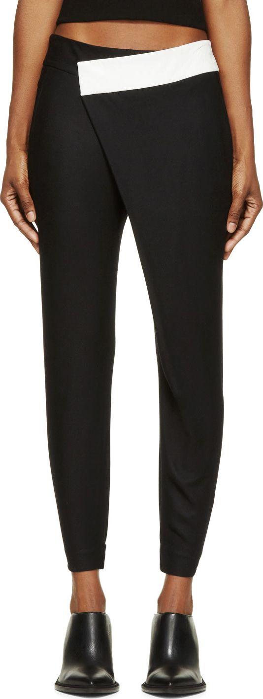 Helmut Lang Black Flex Suiting Trousers