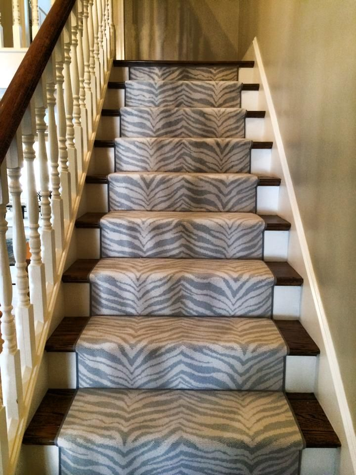 This Is A #animal_print_carpet Remnant Made Into A #stair_runner. Visit  Carpetworkroom.com