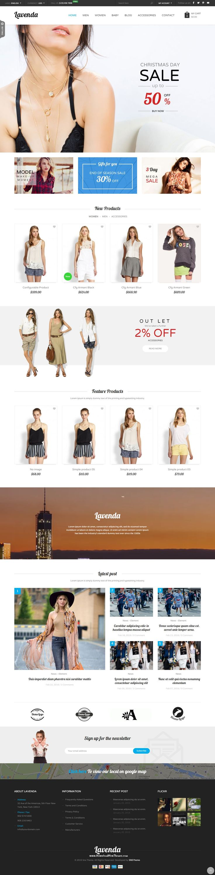 SNS Lavenda Magento Theme has 8+ homepage layout and with powerful features, easy to customize, power admin, cool effect. We hope you will have a great experience #eCommerce #magentotheme #fashion