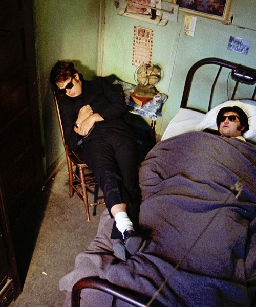 Sleep for Elwood and Jake in Elwood's downtown Chicago one-room apartment. #TheBluesBrothers