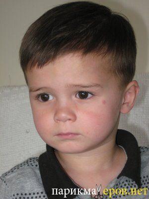 Детская стрижка шапочка с плавным переходом.