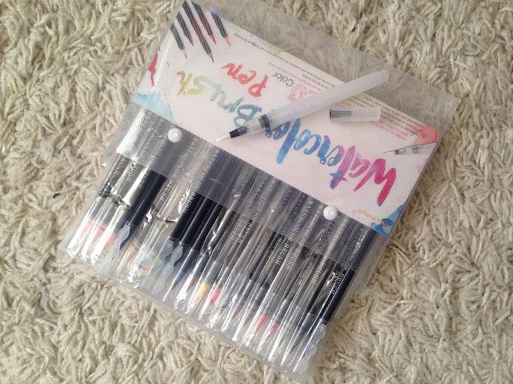 Online Shop 20 Color Premium Painting Soft Brush Pen Set Watercolor Markers Pen Effect Best For Coloring Books Manga Comic Calligraphy | Aliexpress Mobile