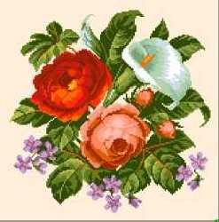 Flowers and Roses by gobelin tapestry needlework art gallery