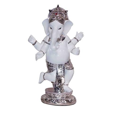 Dancing Ganesh / Pagdi, Marble look with Colored Electroplating , made of Polystone.  Buy this idol of Lord Ganesh only @ Rs 2,879