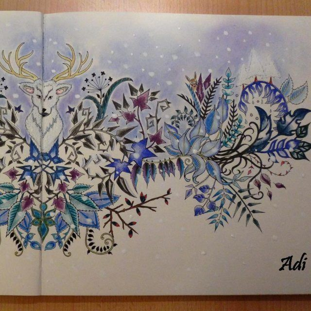 Deer Enchanted Forest Johanna Basford Coloring BookColoring