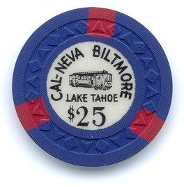 Cal-Neva Tahoe Biltmore $25 Casino Chip