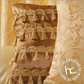 Variety of gold scatter cushions