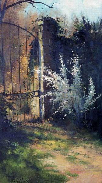 """Serguei Toutounov Сад, в котором встретились Мариус и Козетта. Гюго """"Отверженные"""""""