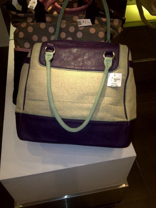 Topshop purple and mint bag