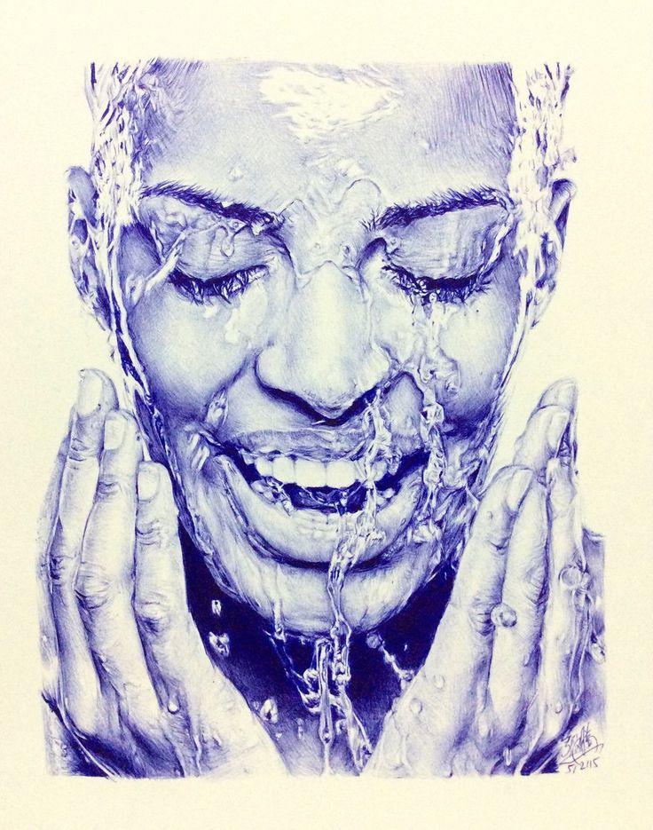 BIC ballpoint pen drawing by chaseroflight.deviantart.com on @DeviantArt