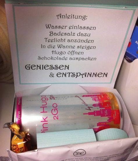 Das ist ne tolle Idee für meine beste Freundin, ein ''Wellness'' Paket zum Selbermachen. Klasse Idee!