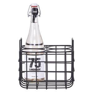 Range bouteilles métal filaire 4 et 6 compartiments House Doctor pour les bouteilles de vin, d'eau ou de lait
