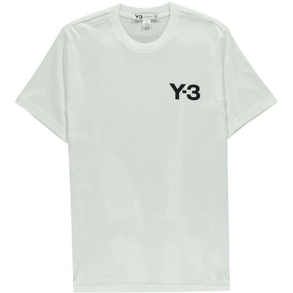 Y3 Basic Crew Neck T Shirt ($60) ❤ liked on Polyvore featuring men's fashion, men's clothing, men's shirts, men's t-shirts, tops, t shirt, shirts, t-shirts, white and mens t shirts